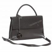 Жіноча сумка 091 dark gray-crocodile