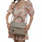 Жіноча сумка 091 light gray-crocodile