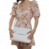 Жіноча сумка 091 white-crocodile
