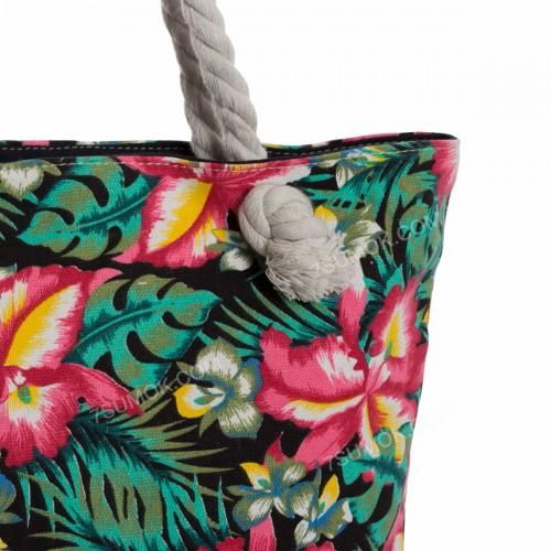 Пляжна сумка 117 green-flowers