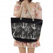 Пляжна сумка 21-2 black