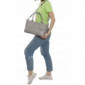 Жіноча сумка 096 light gray-crocodile-kombi